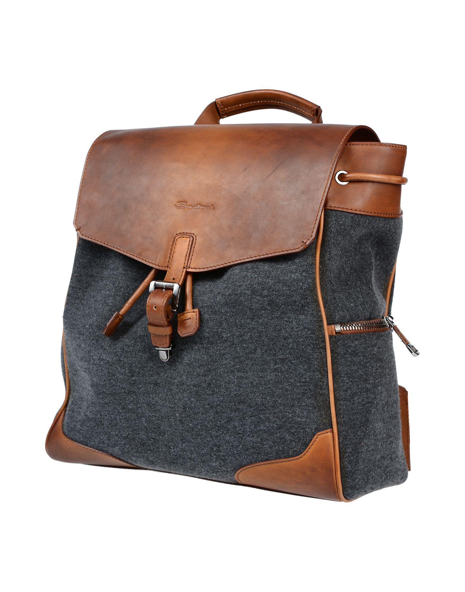 SANTONI Рюкзаки и сумки на пояс мужские сумки