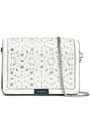 MICHAEL MICHAEL KORS Embroidered leather shoulder bag