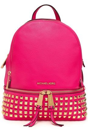 MICHAEL MICHAEL KORS Studded textured-leather backpack