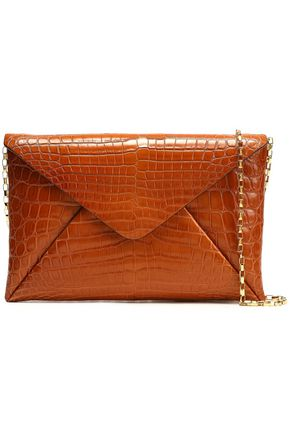 MICHAEL KORS COLLECTION Crocodile envelope clutch