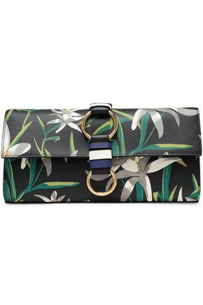 DIANE VON FURSTENBERG Embellished leather clutch