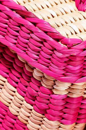 NANNACAY Baby Roge striped woven straw shoulder bag