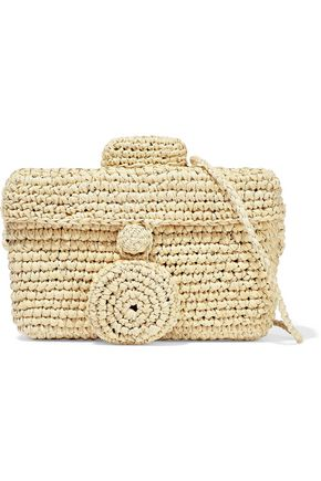 Shoulder bag Toquilla straw Bag strap This bag will fit a cardholder keys and standard phone Imported This product is handmade and therefore may differ from that pictured Tie fastening at front