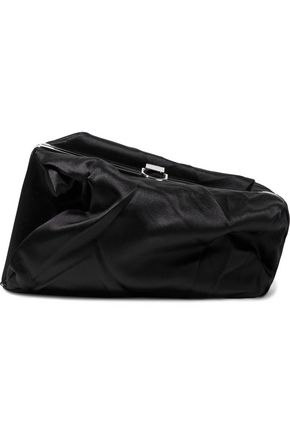 PROENZA SCHOULER Asymmetric gathered satin clutch