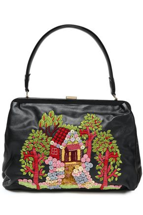 RED(V) Embellished faux leather tote