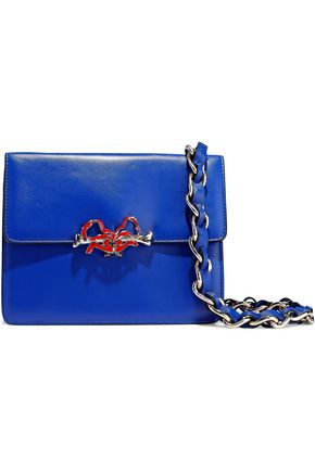 RED(V) Bow-embellished leather shoulder bag