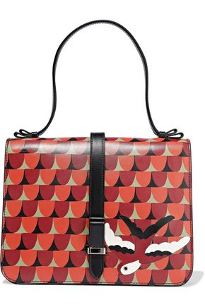 RED(V) Embellished printed leather shoulder bag