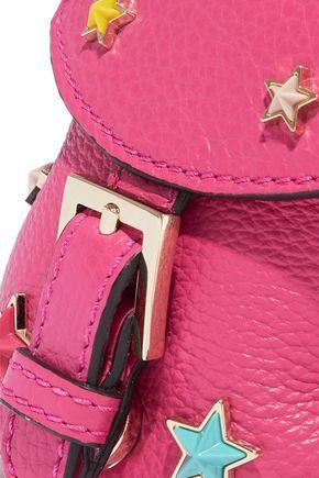 RED(V) Embellished pebbled-leather backback