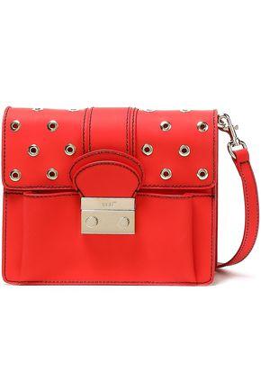 RED(V) Eyelet-embellished PVC shoulder bag