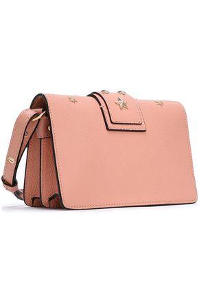 RED(V) Studded leather shoulder bag