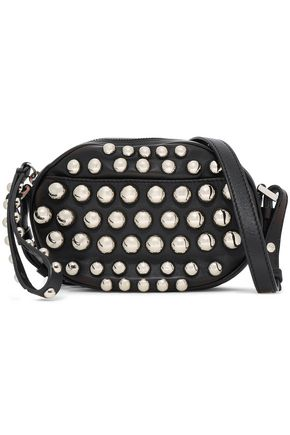 RED(V) Studded leather shoulder bag