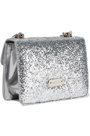RED(V) Glittered mirrored-leather shoulder bag