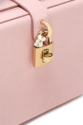 DOLCE & GABBANA Dolce Box studded lizard-effect leather shoulder bag