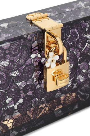 DOLCE & GABBANA Lace perspex clutch