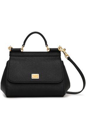 DOLCE & GABBANA Sicily textured-leather shoulder bag