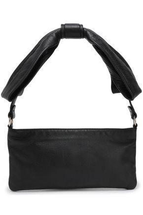RED(V) Knotted leather shoulder bag