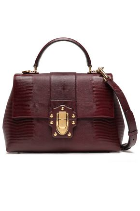 DOLCE & GABBANA Lizard-effect leather tote