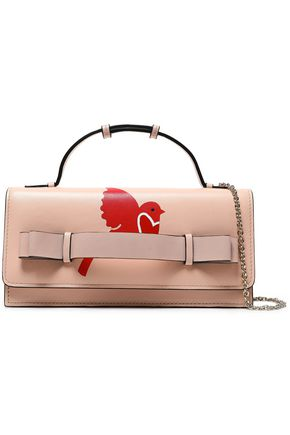 RED(V) Printed leather clutch