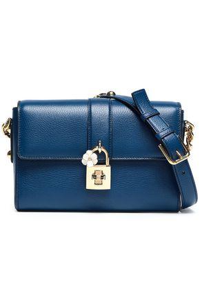DOLCE & GABBANA Embellished pebbled-leather shoulder bag