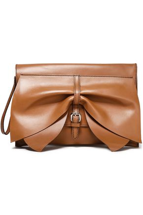 RED(V) Leather clutch