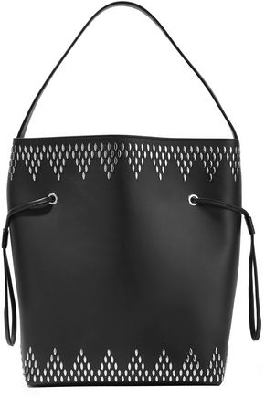 ALAÏA Studded leather bucket bag