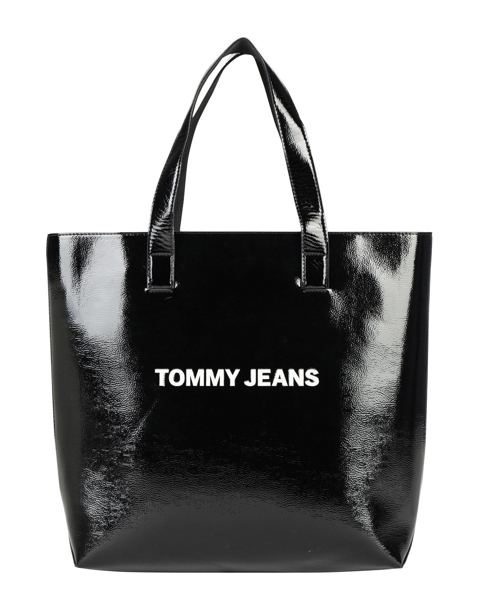 《送料無料》TOMMY JEANS レディース ハンドバッグ ブラック ポリウレタン 100% TJW MODERN GIRL TOTE