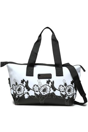 ADIDAS by STELLA McCARTNEY Embroidered floral-print neoprene weekend bag
