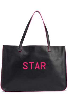 RED(V) Laser-cut leather tote
