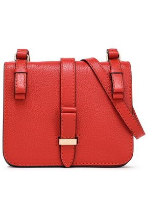 RED(V) Textured-leather shoulder bag