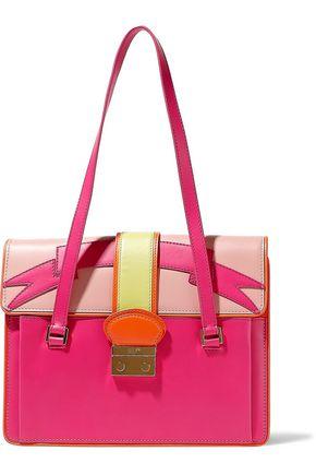 RED(V) Color-block leather shoulder bag