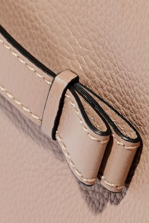 RED(V) Textured-leather clutch
