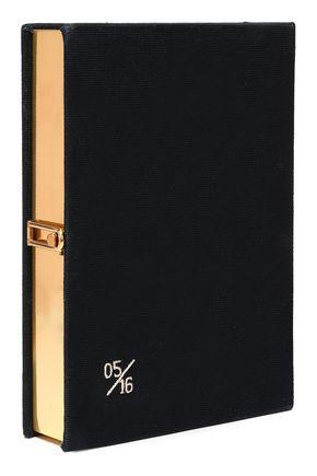 OLYMPIA LE-TAN Appliquéd canvas box clutch