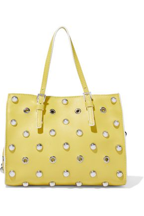 RED(V) Eyelet-embellished studded leather tote