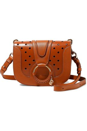 SEE BY CHLOÉ Hana perforated smooth and textured-leather shoulder bag