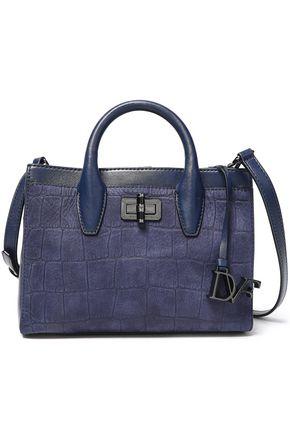 DIANE VON FURSTENBERG Viviana croc-effect leather shoulder bag