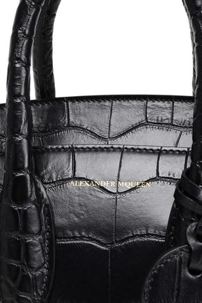 ALEXANDER MCQUEEN Heroine croc-effect leather shoulder bag