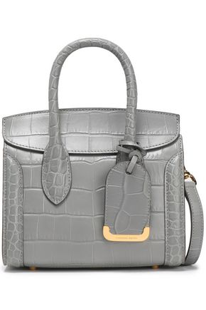 ALEXANDER MCQUEEN Croc-effect leather shoulder bag