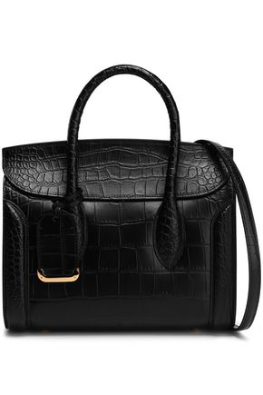 ALEXANDER MCQUEEN Heroine croc-effect leather tote