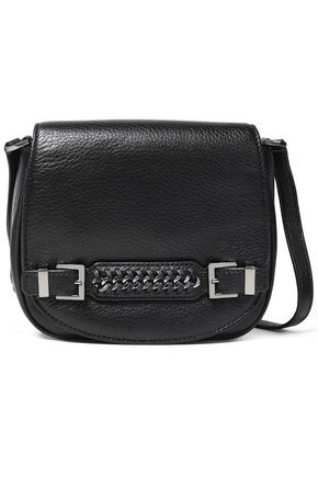 DIANE VON FURSTENBERG Iggy chain-embellished textured-leather shoulder bag