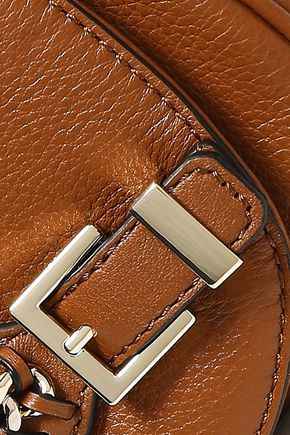 47de695628e0 ... DIANE VON FURSTENBERG Chain-embellished textured-leather shoulder bag  ...