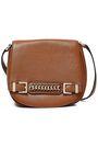 DIANE VON FURSTENBERG Chain-embellished textured-leather shoulder bag