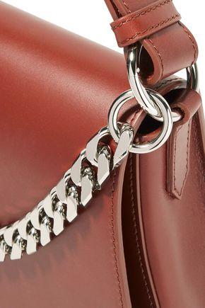 e22bd38f3c0 ... CALVIN KLEIN 205W39NYC Chain-embellished fringed leather shoulder bag  ...
