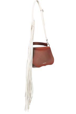 CALVIN KLEIN 205W39NYC Chain-embellished fringed leather shoulder bag