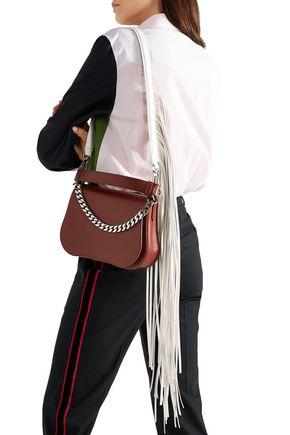 1f6cf460fa CALVIN KLEIN 205W39NYC Chain-embellished fringed leather shoulder bag