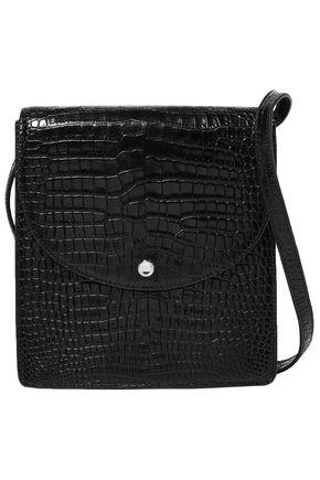 ELIZABETH AND JAMES Croc-effect leather shoulder bag