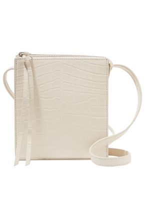 ELIZABETH AND JAMES Croc-effect leather shoulder bag