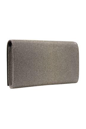bf61234edc21 ... SAINT LAURENT Metallic canvas clutch