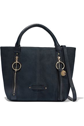 SEE BY CHLOÉ Olga zip-detailed textured-nubuck tote