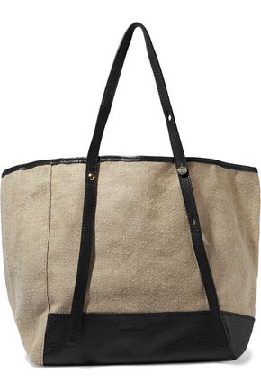 SEE BY CHLOÉ Leather-trimmed canvas tote