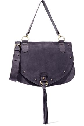 SEE BY CHLOÉ Collins medium tasseled suede shoulder bag